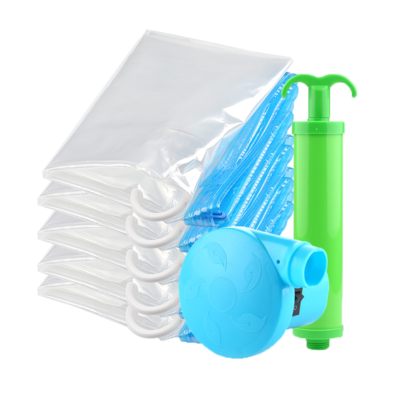 Transparent Hanging vacuum storage bag BY-H002