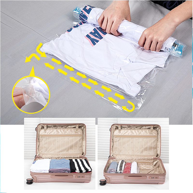 Hot Sales PA Hand Rolling Travel Vacuum Bag